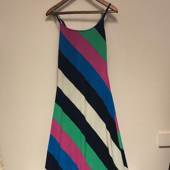 Derek Heart Striped Maxi Dress